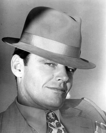 Jack Nicholson sur le tournage de Chinatown