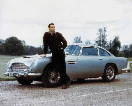 The legendary Aston Martin from the Goldfinger movie