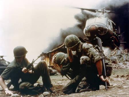 Oorlogsscène op de set van Apocalypse Now