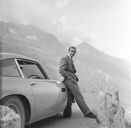 Sean Connery on the set of the movie Goldfinger in 1965