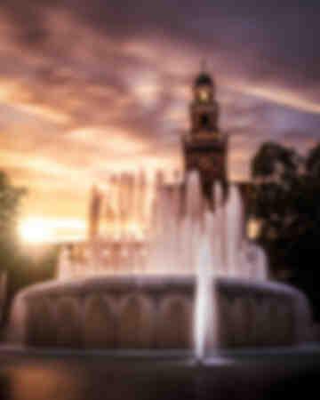 Milano - Sforza Castle Fountain