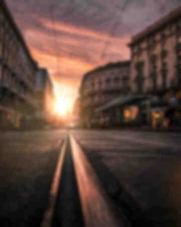 Milano - Sunset tram