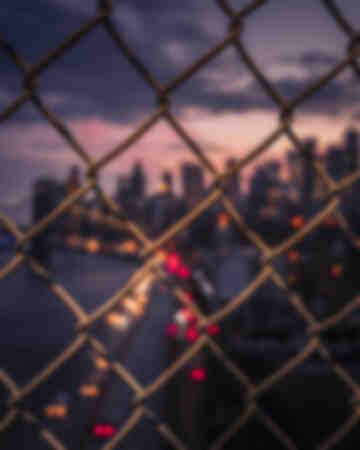 New York City Sunset Fence 1