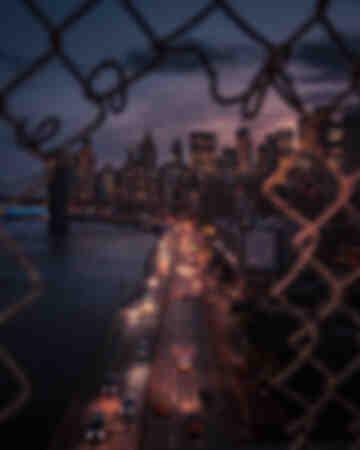 New York City Sonnenuntergangszaun 3
