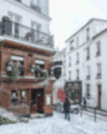 Parigi - Montmartre sotto la neve 12