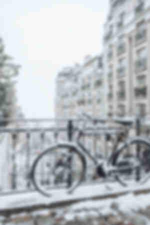 Paris - Montmartre under snön 7