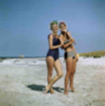Badkläder GDR baddräkt bikini foto från 1962
