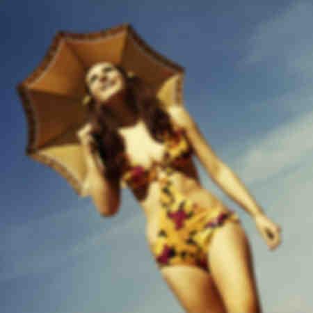 Annons för paraply DDR-foto från 1969