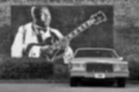 Cadillac garée en Indeiola Mississippi USA