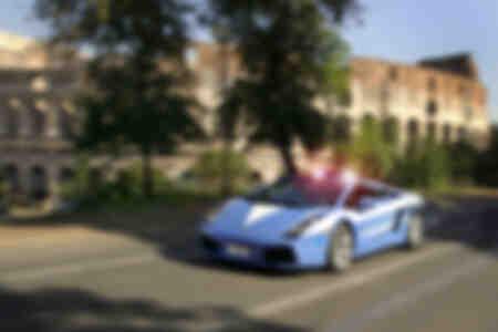 Lamborghini Gallardo Politieauto in Rome