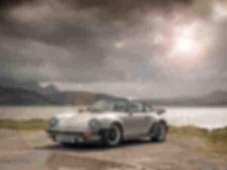 Porsche 911 Turbo dans les Highlands écossais