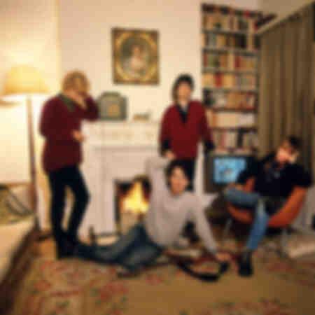 U2 dans leur maison louée à Londres 1980