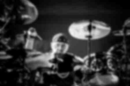 Neil Peart of Rush on stage in 2013