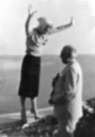 Romy Schneider and Hans Herbert Blatzheim 1957