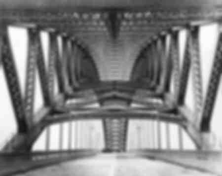 Ponte in acciaio vicino a Bayonne negli Stati Uniti, 1923