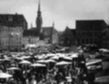 Viktualienmarkt à Munich vers 1890