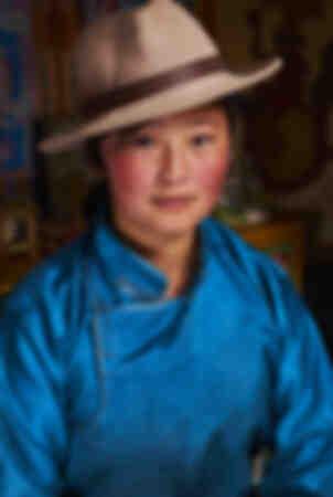 El nómada de Mongolia