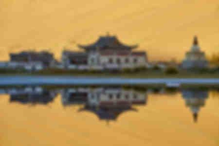 El monasterio del desierto de Gobi