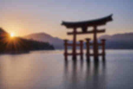 Zen en el sol poniente