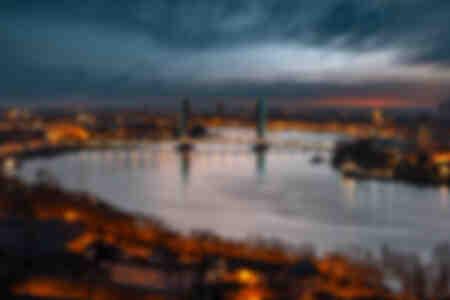 blå Hour Bordeaux