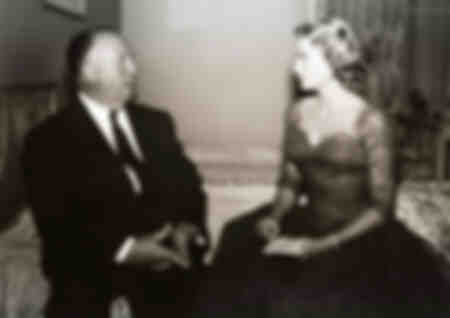 Alfred Hitchcock et Grace Kelly sur le tournage de On Call Murder