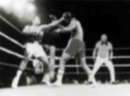 Le célèbre match de boxe entre George Foreman et Muhammad Ali