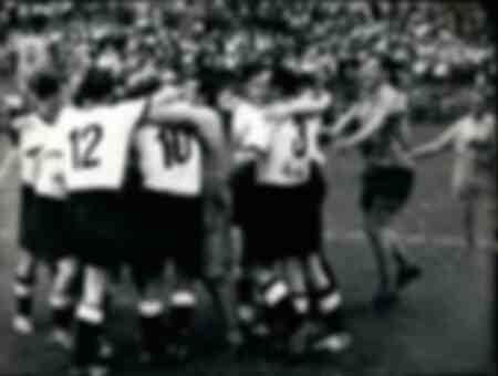 Deutschland gegen Jugoslawien während der WM 1954