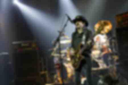 Les musiciens du groupe britannique Motörhead le 17 novembre 2015