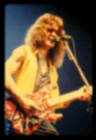Eddie Van Halen van Van Halen in New York
