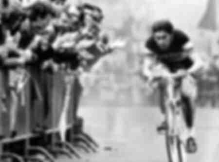 Eddy Merckx during the race around the Henninger Tower