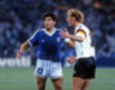 Finale de la Coupe du monde de football 1990 en Italie entre l'Allemagne et l'Argentine