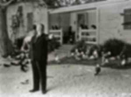 Foto des berühmten Alfred Hitchcock