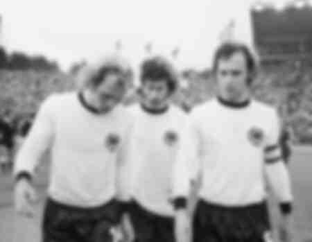 Franz Beckenbauer Uli Hoeness et Paul Breitner à la Coupe du monde 1974