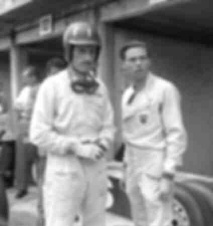 Graham Hill and Jim Clark at the German Grand Prix at the Nuerburgring