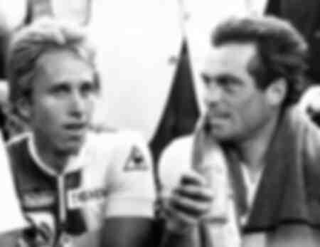 Greg Lemond des États-Unis et Bernard Hinault de la France