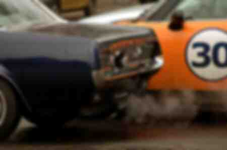 Arrière d'une Ford Mustang noire