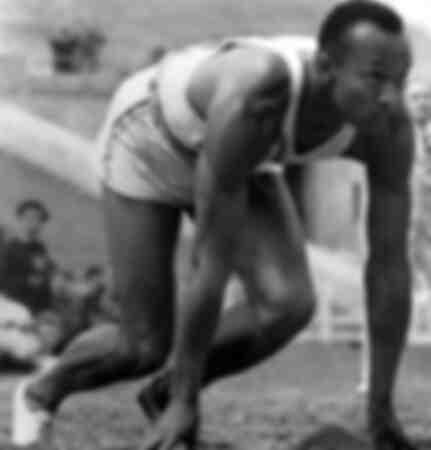 Jesse Owens op de Olympische Spelen van 1936 in Berlijn