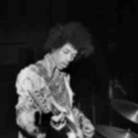 Jimi Hendrix lors d'une vérification sonore avant le concert