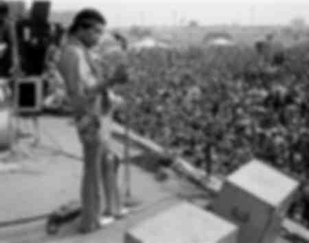 Jimmy Hendrix in Newport at Pop Festival  in 1969