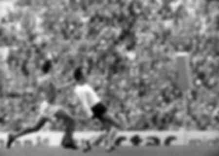 Johann Cruyff en finale de la Coupe du monde entre l'Allemagne et les Pays-Bas à Munich