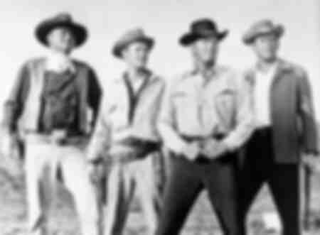 John Wayne Michael Anderson Jr Dean Martin and Earl Holliman