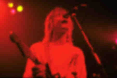 Kurt Cobain of Nirvana live at the Astoria Theater in London