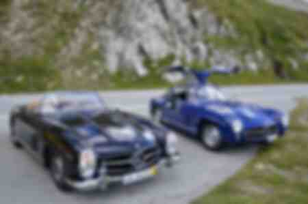 Mercedes 300 SL in Switzerland