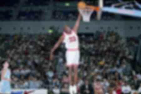 Michael Jordan des Chicago Bulls lors des Nike Hoop Heroes en 1996