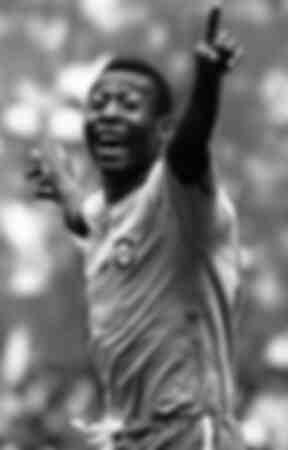 Pelé Brésil célèbre un but
