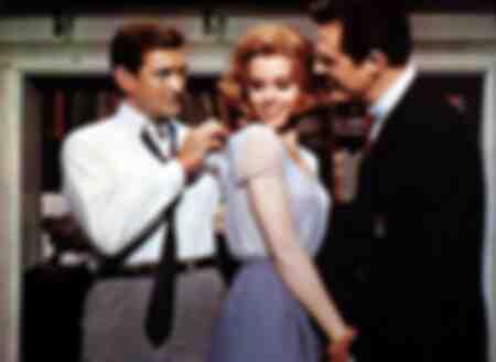 Rod Taylor Jane Fonda y Robert Culp en la película Ahora dos hombres están tratando de conseguir a Eileen