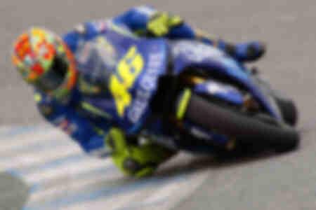 Rossi on his Yamaha