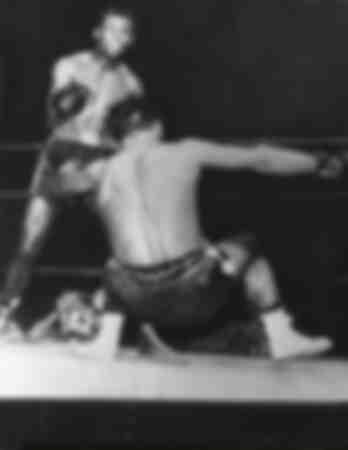 Escena de la pelea entre Robert Villemain y Sugar Ray Robinson