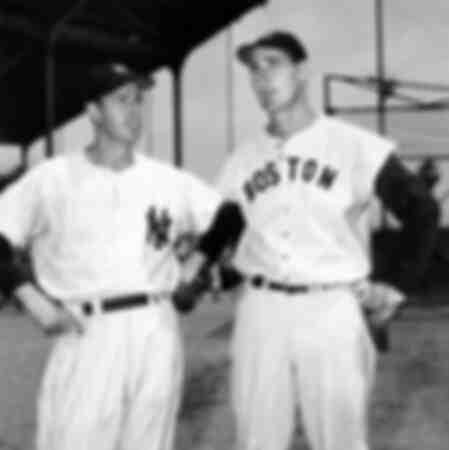 Ted Williams van de Boston Red Sox en Joe DiMaggio van de New York Yankees