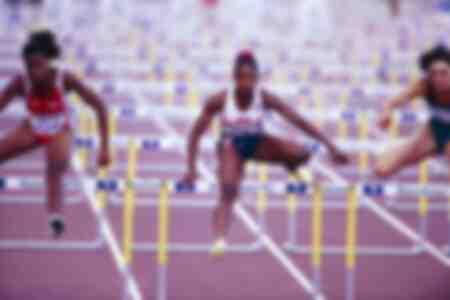 La final de los 100 metros femeninos en Barcelona 1992